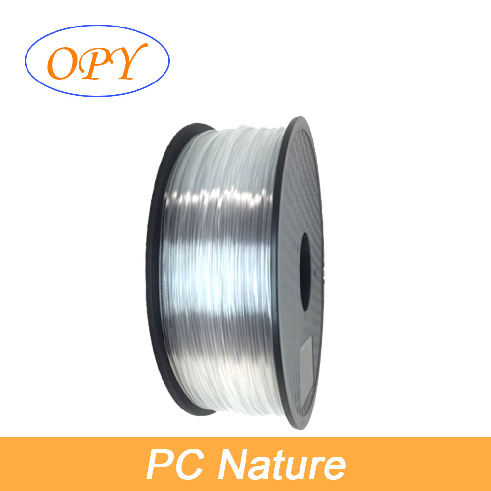PC Polycarbonate Printing Filament Function Material monolithic Coil Transparent Strong Tough Anti Fire 1.75mm