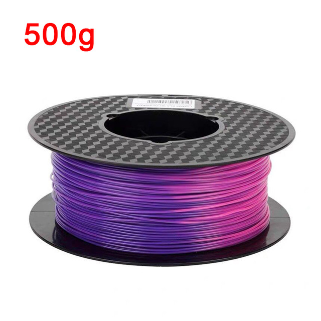3D Printer Filament PLA Change Color with Temperature 3D Printing Material 1.75mm 1kg/500g/250g Purple to Pink