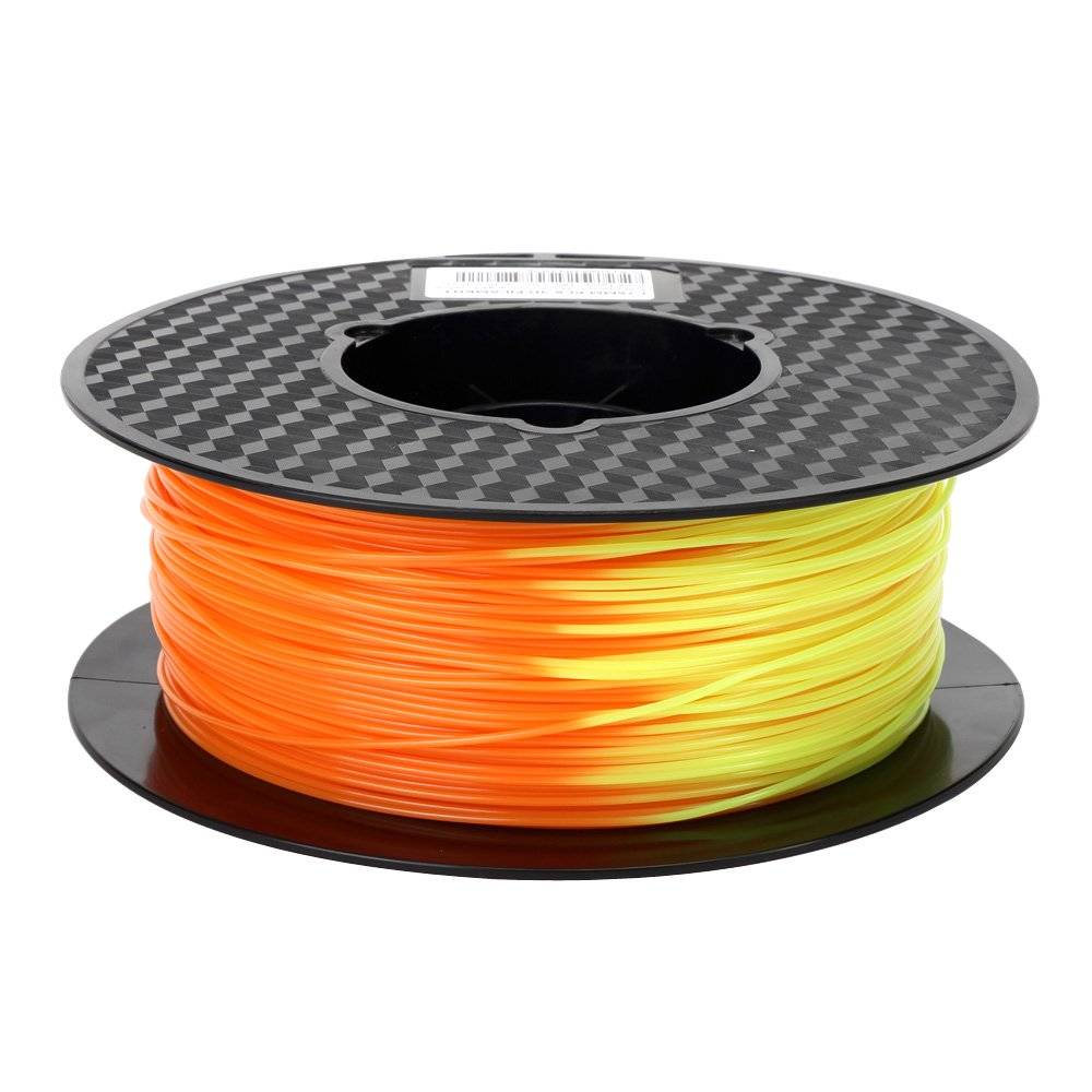Color Change PLA Filament Orange to Yellow PLA Filament 1.75mm 1KG Color Change with Temperature 3D Printing Filament 2.2LBS 3D Pen Printing Material
